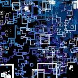 Teste padrão abstrato do quadrado na cor azul. Fotos de Stock Royalty Free