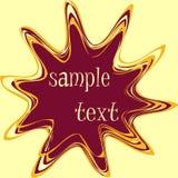 Teste padrão abstrato do texto Imagens de Stock Royalty Free