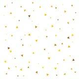 Teste padrão abstrato do triângulo dourado Fotos de Stock