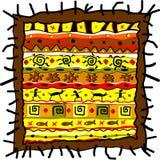 Teste padrão abstrato do vetor no estilo asteca Imagens de Stock