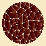 Teste padrão abstrato dos elementos geométricos marrons agrupados em um círculo Fotografia de Stock Royalty Free