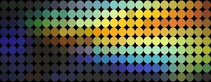 Teste padrão abstrato dos pontos amarelos azuis alaranjados do inclinação Fundo holográfico do mosaico ilustração royalty free