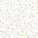 Teste padrão abstrato dos quadrados Ornamento fino com elementos quadrados coloridos Fotos de Stock Royalty Free