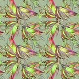 Teste padrão abstrato e elementos florais Fotografia de Stock Royalty Free