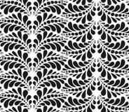 Teste padrão abstrato em preto e branco Fotos de Stock Royalty Free