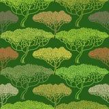Teste padrão abstrato estilizado da ilustração da árvore do outono Fotografia de Stock Royalty Free