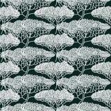 Teste padrão abstrato estilizado da ilustração das árvores Imagens de Stock Royalty Free