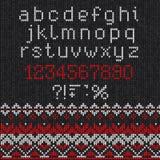 Teste padrão abstrato feito malha feito a mão do fundo com alfabeto, lowe Imagem de Stock Royalty Free