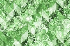 Teste padrão abstrato geométrico com o ornamento floral do estilo de Zentangle Imagem de Stock