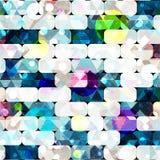 Teste padrão abstrato geométrico da cor no estilo dos grafittis ilustração do vetor da qualidade para seu projeto Fotos de Stock Royalty Free