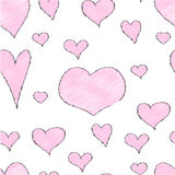 Teste padrão abstrato infinito do amor ilustração stock
