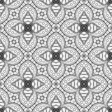 Teste padrão abstrato monocromático do vetor Ornamento de Deco ilustração royalty free