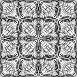 Teste padrão abstrato monocromático do vetor Ornamento de Deco ilustração do vetor