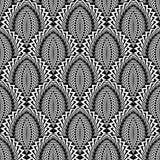 Teste padrão abstrato monocromático sem emenda do projeto ilustração do vetor