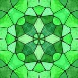 Teste padrão abstrato multicolorido calidoscópico verde ilustração do vetor
