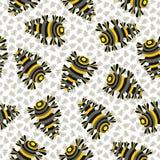 Teste padrão abstrato papel de parede colorido do besouro Ilustração Royalty Free