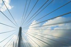 Teste padrão abstrato pelo fio da ponte Imagem de Stock