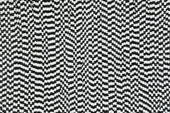 Teste padrão abstrato preto e branco Fotos de Stock