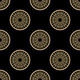Teste padrão abstrato preto e dourado Imagem de Stock Royalty Free