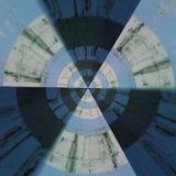 Teste padrão abstrato radial Fotografia de Stock Royalty Free