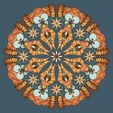 Teste padrão abstrato redondo decorativo ilustração royalty free