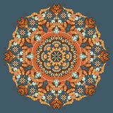 Teste padrão abstrato redondo decorativo ilustração stock