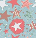 Teste padrão abstrato retro sem emenda com as estrelas estrelados ilustração stock