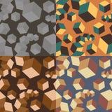 Teste padrão abstrato sem emenda com cubos Fotografia de Stock Royalty Free