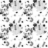 Teste padrão abstrato sem emenda com formas geométricas Ilustração desenhada mão ilustração stock
