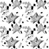 Teste padrão abstrato sem emenda com formas geométricas Ilustração desenhada mão ilustração royalty free