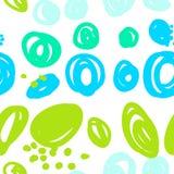 Teste padrão abstrato sem emenda com pontos coloridos ilustração stock