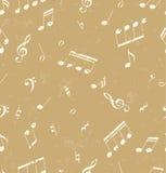Teste padrão abstrato sem emenda com símbolos de música Fotos de Stock