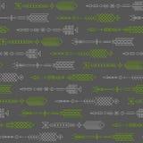 Teste padrão abstrato sem emenda com setas estilizados Imagens de Stock Royalty Free