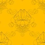 Teste padrão abstrato sem emenda da flor do vetor, papel Imagem de Stock Royalty Free