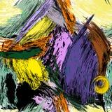 Teste padrão abstrato sem emenda do fundo, com cursos da pintura e spl ilustração royalty free