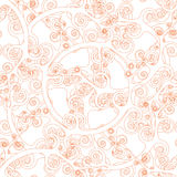 Teste padrão abstrato sem emenda do papel de parede Imagem de Stock