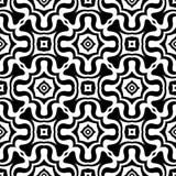 Teste padrão abstrato sem emenda do vetor preto e branco Papel de parede abstrato do fundo fotografia de stock