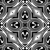 Teste padrão abstrato sem emenda do vetor preto e branco Papel de parede abstrato do fundo fotografia de stock royalty free