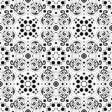 Teste padrão abstrato sem emenda em preto e branco Fotos de Stock