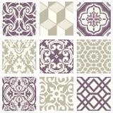 Teste padrão abstrato sem emenda violeta pastel elegante 24 do vintage clássico Imagens de Stock