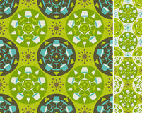 Teste padrão abstrato verde da mobília Fotografia de Stock