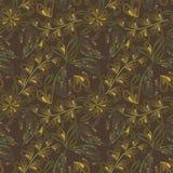 Teste padrão abstrato verde sem emenda das folhas Imagem de Stock Royalty Free