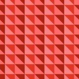 Teste padrão abstrato vermelho com triângulos Imagens de Stock
