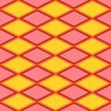 Teste padrão abstrato vermelho e amarelo com rombo Fotos de Stock Royalty Free