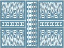 Teste padrão africano dos triângulos Foto de Stock