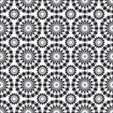 Teste padrão africano preto e branco Imagens de Stock Royalty Free