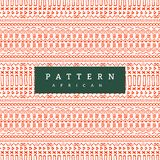 Teste padrão africano sem emenda Listras horizontais tiradas mão Cópia alaranjada brilhante para suas matérias têxteis ilustração do vetor