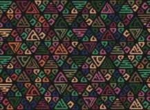 Teste padrão africano sem emenda Ornamento étnico do boho no tapete Estilo asteca Figura bordado tribal Indiano, mexicano, teste  ilustração royalty free