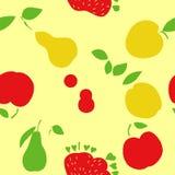 Teste padrão ajustado do fruto, fundo do fruto da natureza Fotos de Stock