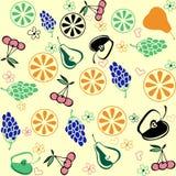 Teste padrão ajustado do fruto, fundo do fruto da natureza Imagens de Stock Royalty Free